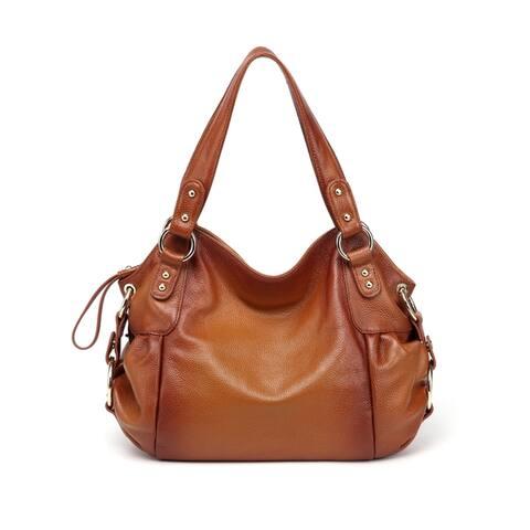 Irene Leather Shoulder Handbag