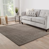 "Foster Handmade Trellis Brown/ Dark Gray Area Rug (9'6"" X 13'6"")"