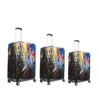 Ful 80s Rainbow 3-piece Hardside Spinner Luggage Set