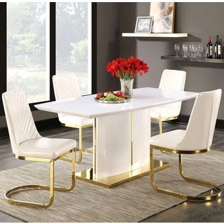 Contemporary Modern Design Gold-tone Dining Set