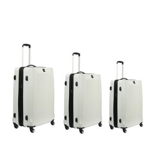 Ful High Loader Series White 3-piece Expandable Hardside Spinner Luggage Set