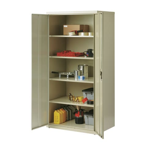 "Iron Horse 5 Shelf Metal Storage Cabinet 18""D x 36""W x 72""H"