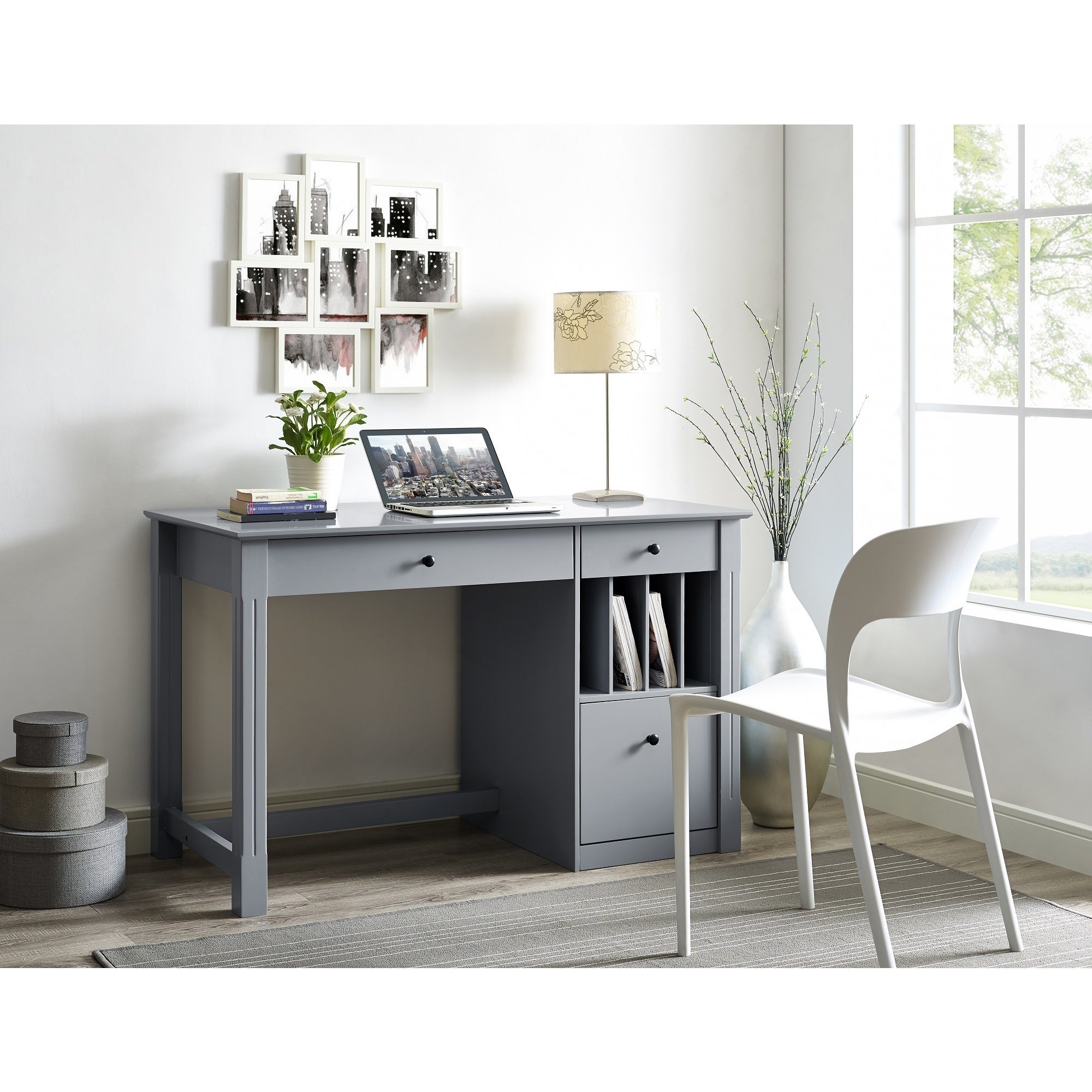 Home Office Deluxe Wood Storage Computer Desk