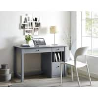 The Gray Barn Kujawa Wood Storage Computer Desk
