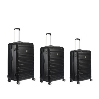 Ful Specialist Black 3-piece Expandable Hardside Spinner Luggage Set