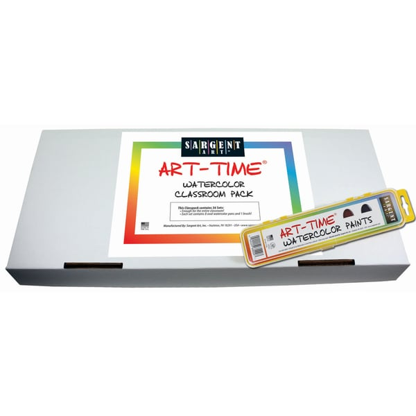 Sargent Art Art-Time Watercolor Classpack, 36 Sets