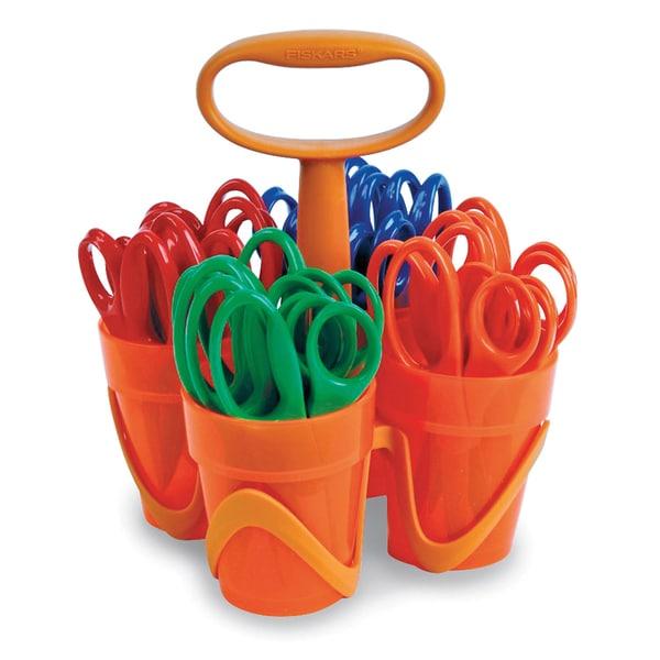 "Fiskars® Blunt-tip Kids Scissors Classpack Caddy (5"", 24 Pack)"