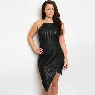 Shop The Trends Women's Plus Size Spaghetti Strap Bodycon Dress With Square Neckline And Envelope Hem