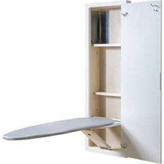 Broan - White ironing center with with raised panel door