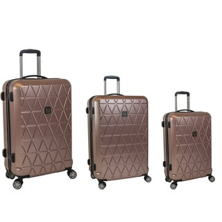 Ful Triangle Gold 3-piece Expandable Hardside Spinner Luggage Set