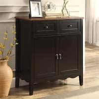 Black Accent Wine Cabinet with Cherry Top
