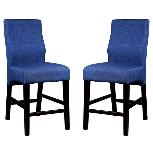 Luxenberg Casual Blue Parson Counter Height Stools (Set of 2)