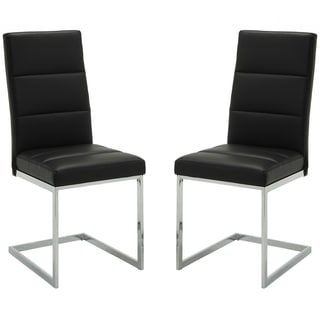 Contemporary Sleek Design Upholstered Dining Chairs (Set of 2)