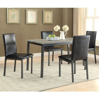 Transitional Style Two-Tone 5-piece Dining Set