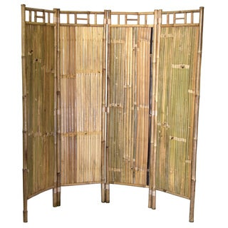 Handmade 4 panel bamboo screen (Vietnam)