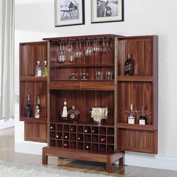 Bon Wine Storage Bar Armoire Cabinet