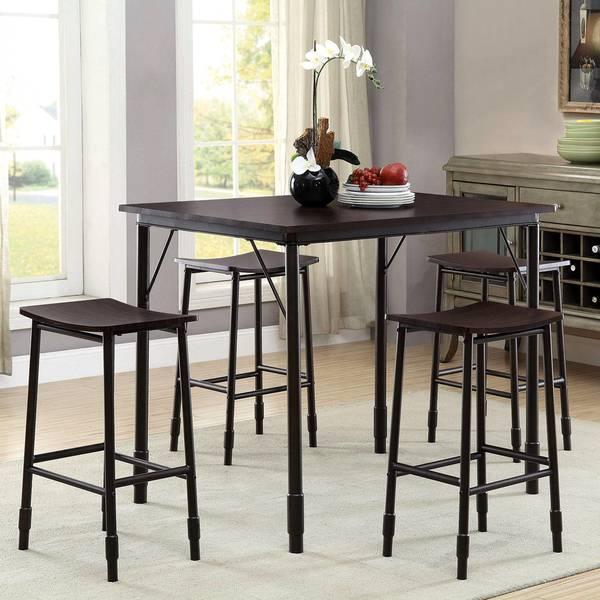 Shop Industrial Sleek Design 5 Piece Counter Height Dining