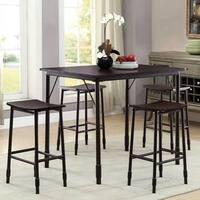 Industrial Sleek Design 5-Piece Counter Height Dining Set