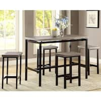Casual Design Two-Tone 5-Piece Counter Height Dining Set