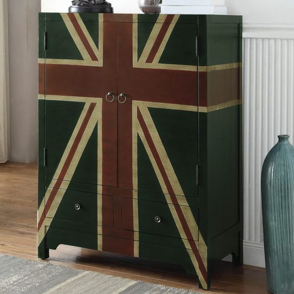 british flag furniture. British Flag Design Vintage Accent Wine Cabinet Furniture