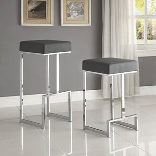 Link to Contemporary Sleek Design Chrome with Grey or Black Seat Stool Similar Items in Dining Room & Bar Furniture