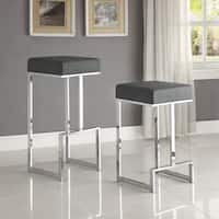Contemporary Sleek Design Chrome with Grey or Black Seat Stool