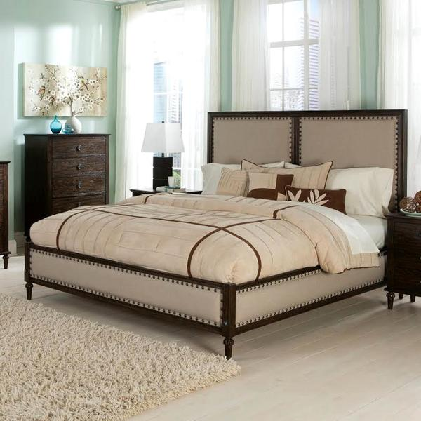 Shop 18th Century French Inspired Panel Bed with Nailhead Trim ...