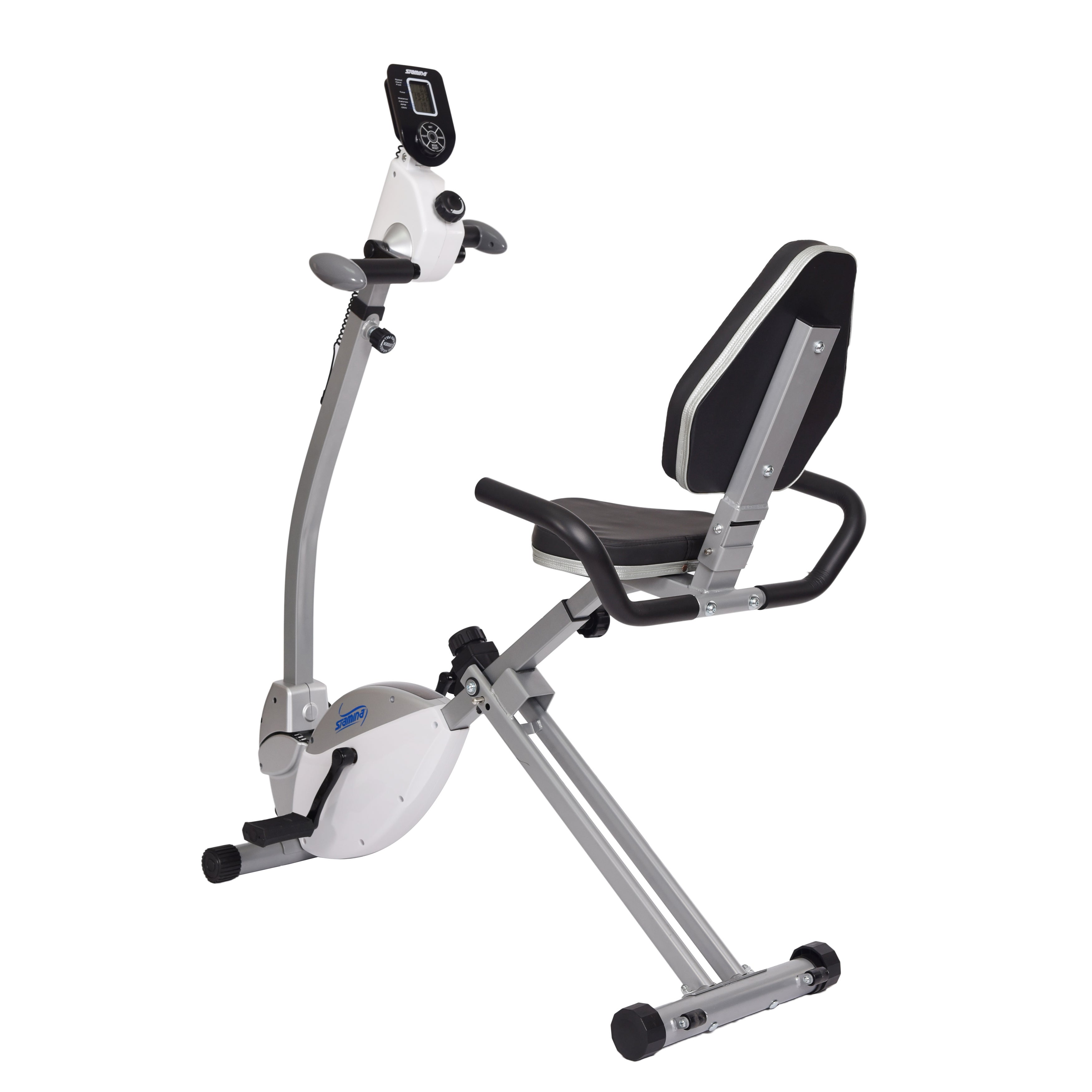 Stamina Recumbent Exercise Bike with Upper Body Exerciser...