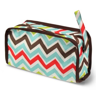 Zodaca Chevron Travel Cosmetic Makeup Case Bag Pouch Toiletry Zip Organizer