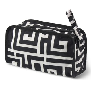 Zodaca Greek Key Travel Cosmetic Makeup Case Bag Pouch Toiletry Zip Organizer