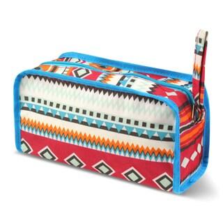 Zodaca Aztec Print Travel Cosmetic Makeup Case Bag Pouch Toiletry Zip Organizer