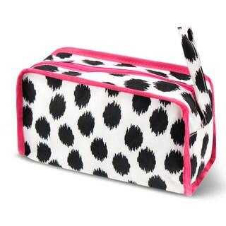 Zodaca Dots Travel Cosmetic Makeup Case Bag Pouch Toiletry Zip Organizer