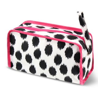 Zodaca Dots Travel Cosmetic Makeup Case Bag Pouch Toiletry Zip Organizer