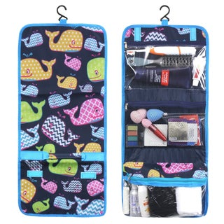 Zodaca Multicolor Whale Travel Hanging Cosmetic Toiletry Carry Bag Wash Organizer Storage