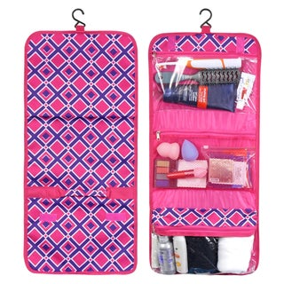 Zodaca Pink Times Square Travel Hanging Cosmetic Toiletry Carry Bag Wash Organizer Storage