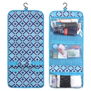 Zodaca Turquoise Times Square Travel Hanging Cosmetic Toiletry Carry Bag Wash Organizer Storage