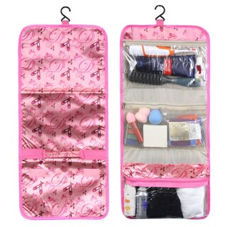 Zodaca Pink Ballet Travel Hanging Cosmetic Toiletry Carry Bag Wash Organizer Storage