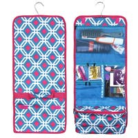 Zodaca Blue Graphic Travel Hanging Cosmetic Carry Bag Toiletry Wash Organizer Storage
