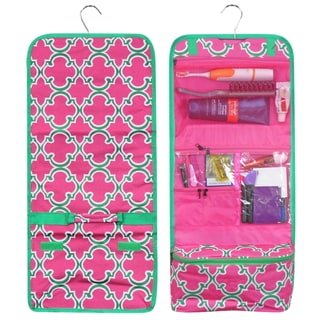 Link to Zodaca Pink Quatrefoil Travel Hanging Cosmetic Carry Bag Toiletry Wash Organizer Storage Similar Items in Travel Accessories