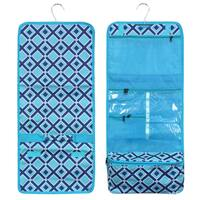 Zodaca Turquoise Times Square Travel Hanging Cosmetic Carry Bag Toiletry Wash Organizer Storage