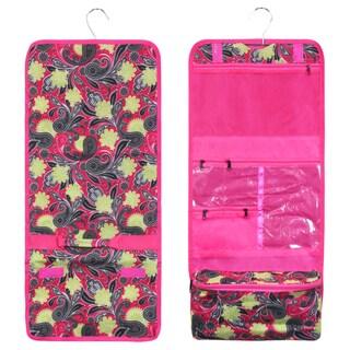 Zodaca Yellow Paisley Travel Hanging Cosmetic Carry Bag Toiletry Wash Organizer Storage
