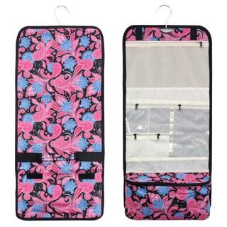 Zodaca Pink Paisley Travel Hanging Cosmetic Carry Bag Toiletry Wash Organizer Storage
