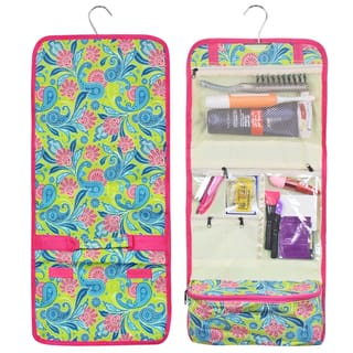 Zodaca Green Pink Paisley Travel Hanging Cosmetic Carry Bag Toiletry Wash Organizer Storage|https://ak1.ostkcdn.com/images/products/16283726/P22645674.jpg?impolicy=medium