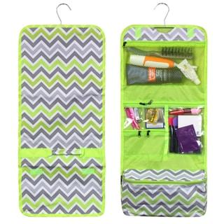 Zodaca Green/ Grey Chevron Travel Hanging Cosmetic Carry Bag Toiletry Wash Organizer Storage