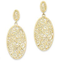 14 Karat Oval Dangle Earrings