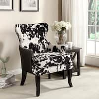 Chalina Rustic Styling Cowhide Accent Chair