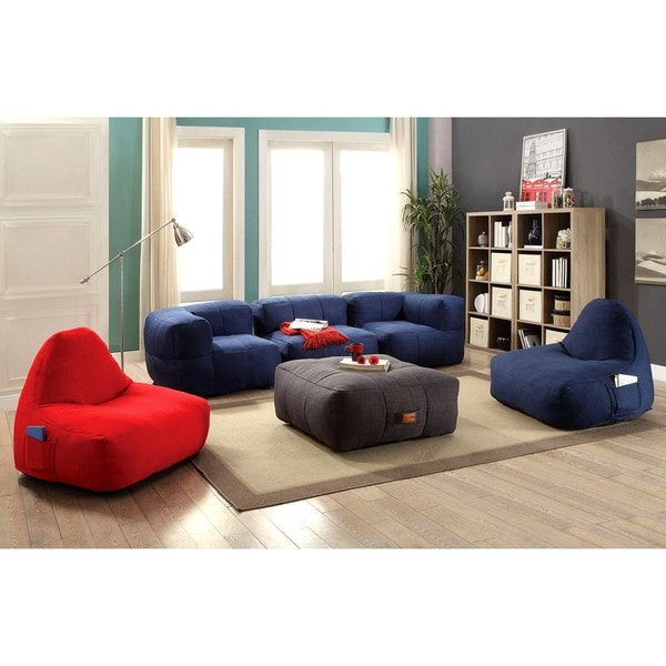 Attractive Living Room Frameless Cozy Bean Bag Style Sofa Set