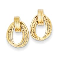 14 Karat Polished & Twisted Fancy Post Earrings