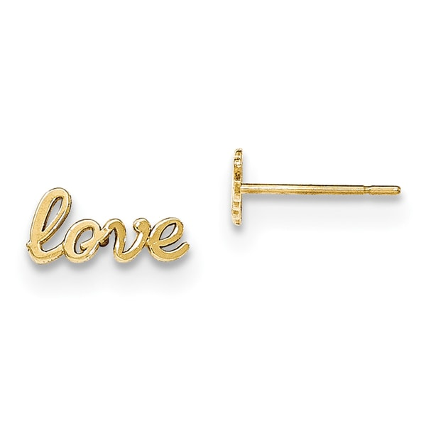 14 Karat Gold Polished Love Post Earrings
