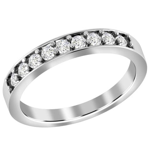 Diamond Gold Round Band Ring by Diacrown